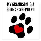 German shepherd grandma Square Car Magnets