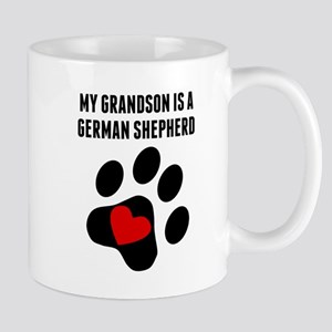 My Grandson Is A German Shepherd Mugs