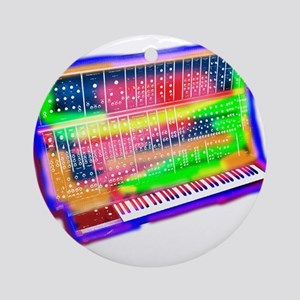 Modular analog electronic synthes Ornament (Round)