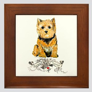 I love my Norwich Terrier Framed Tile
