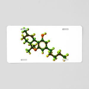 THC Molecule Aluminum License Plate