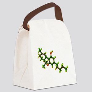 THC Molecule Canvas Lunch Bag