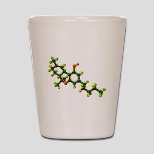 THC Molecule Shot Glass