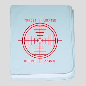 Sniper Target Shot baby blanket
