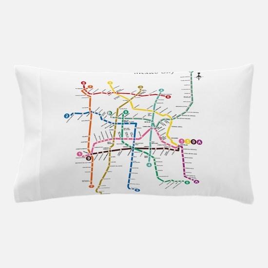 Mexico City metro map Pillow Case