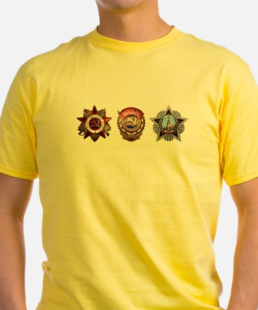 Military Soviet Union Decorations Medals T T-Shirt