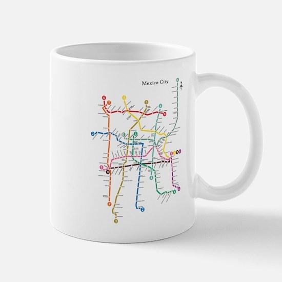 Mexico City metro map Mugs
