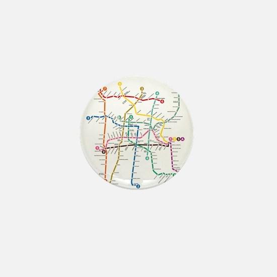 Mexico City metro map Mini Button