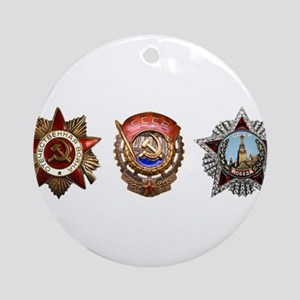 Military Soviet Union Decorations Ornament (Round)