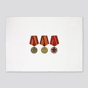 Soviet Union Medals T-shirt 2nd Wor 5'x7'Area Rug