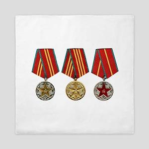 Soviet Union Medals T-shirt 2nd World Queen Duvet