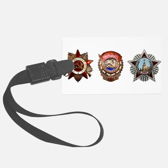 Military Soviet Union Decoration Luggage Tag