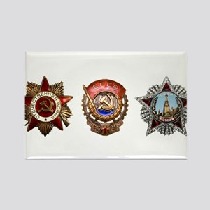 Military Soviet Union Decorations Medals T Magnets