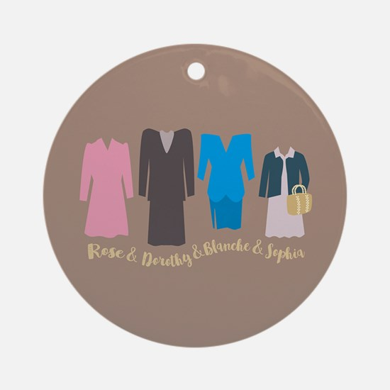 Golden Girls Outfits Round Ornament
