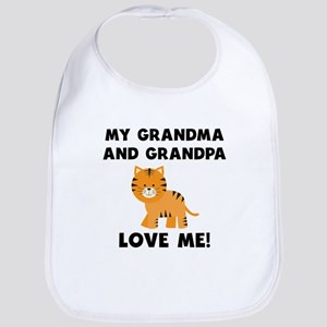 My Grandma And Grandpa Love Me Tiger Bib