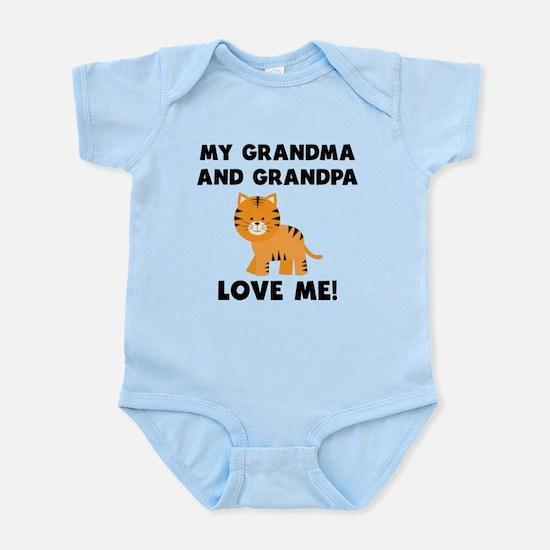 My Grandma And Grandpa Love Me Tiger Body Suit