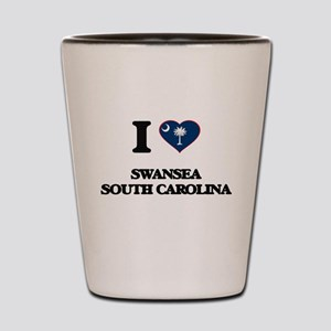 I love Swansea South Carolina Shot Glass