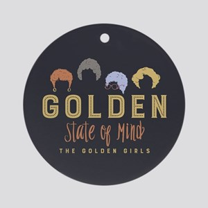 Golden Girls State Of Mind Round Ornament