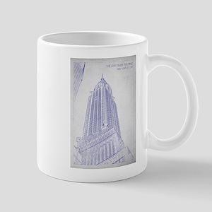 Chrysler building blueprint Mugs