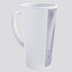 Chrysler building blueprint 17 oz Latte Mug