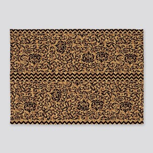 Golden Tudor Damask 5'x7'Area Rug