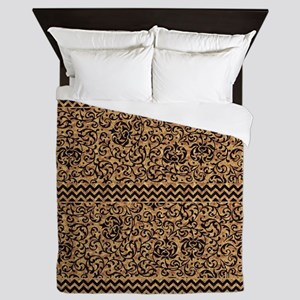 Golden Tudor Damask Queen Duvet