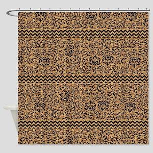 Golden Tudor Damask Shower Curtain