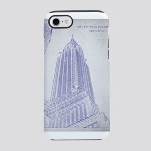 Chrysler building blueprint iPhone 7 Tough Case