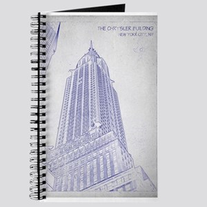Blueprint notebooks cafepress chrysler building blueprint journal malvernweather Image collections