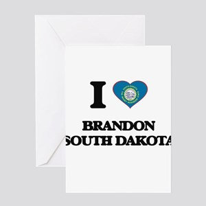 I love Brandon South Dakota Greeting Cards