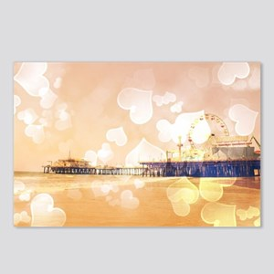 Bokeh Hearts Santa Monica Postcards (Package of 8)