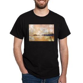Bokeh Hearts Santa Monica Pier T-Shirt