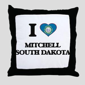 I love Mitchell South Dakota Throw Pillow
