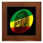 Jah Lion Framed Tile