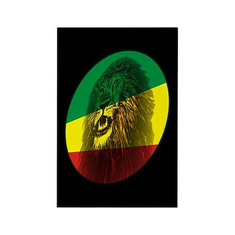 Jah Lion Rectangle Magnet