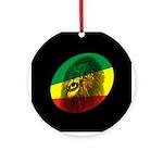 Jah Lion Ornament (Round)