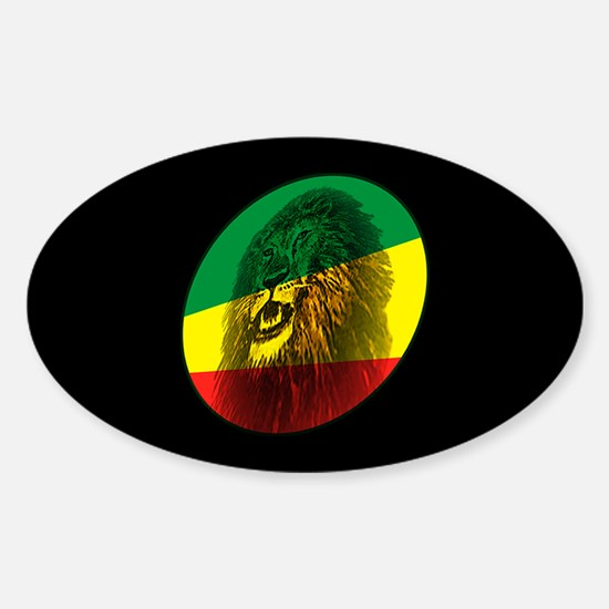 Jah Lion Dark Oval Decal
