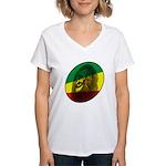 Jah Lion Women's V-Neck T-Shirt