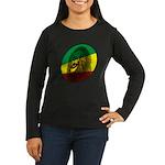 Jah Lion Women's Long Sleeve Dark T-Shirt
