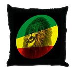 Jah Lion Throw Pillow
