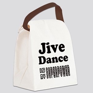 jive Dance Is My SuperPower Canvas Lunch Bag