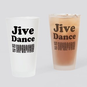 jive Dance Is My SuperPower Drinking Glass