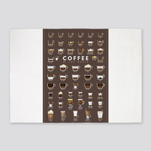 Coffee Chart 5'x7'Area Rug