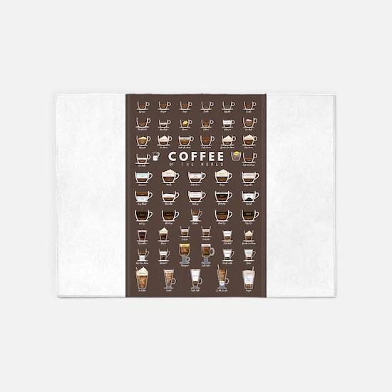 Coffee Chart 5'x7'Area Rug