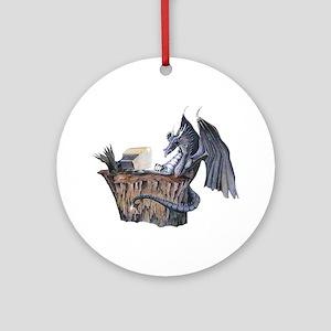 Computer Dragon Ornament (Round)
