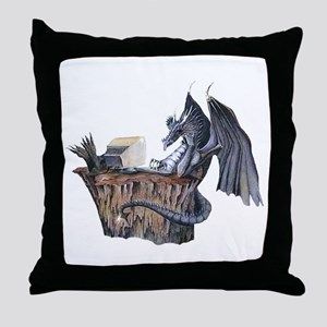 Computer Dragon Throw Pillow