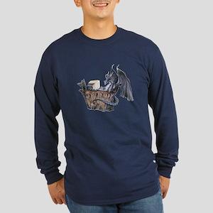 Computer Dragon Long Sleeve Dark T-Shirt