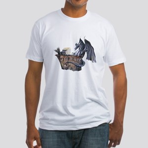 Computer Dragon Fitted T-Shirt
