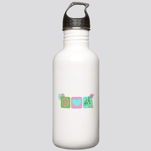 Peace Love and Cycling Stainless Water Bottle 1.0L