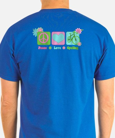 2-Sided Peace Love Cycle T-Shirt